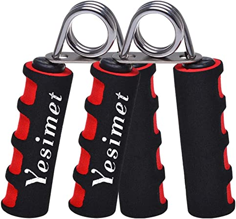 YESIMET Hand Grip Strengthener Set, Finger Gripper, Hand Grippers - Soft Foam Hand Exerciser for Quickly Increasing Wrist Forearm and Finger Strength, 2 Pack
