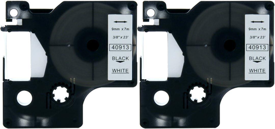 40913 5x Schriftband Tape 9mm S-W für DYMO D1