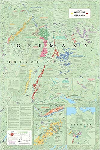 Regions Of Germany Map.Wine Map Of Germany Steve De Long 9781936880119 Amazon Com Books