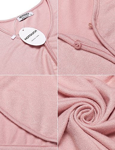 Maniche Rosa Basic Donna Typ1 HOTOUCH pastell Coprispalle lunghe ExAw7Fn8fq