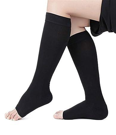 67ca7ed60 Runee High Quality Medical Open Toe Compression Sock 20-30 mmHg Knee High  Hosiery Stocking