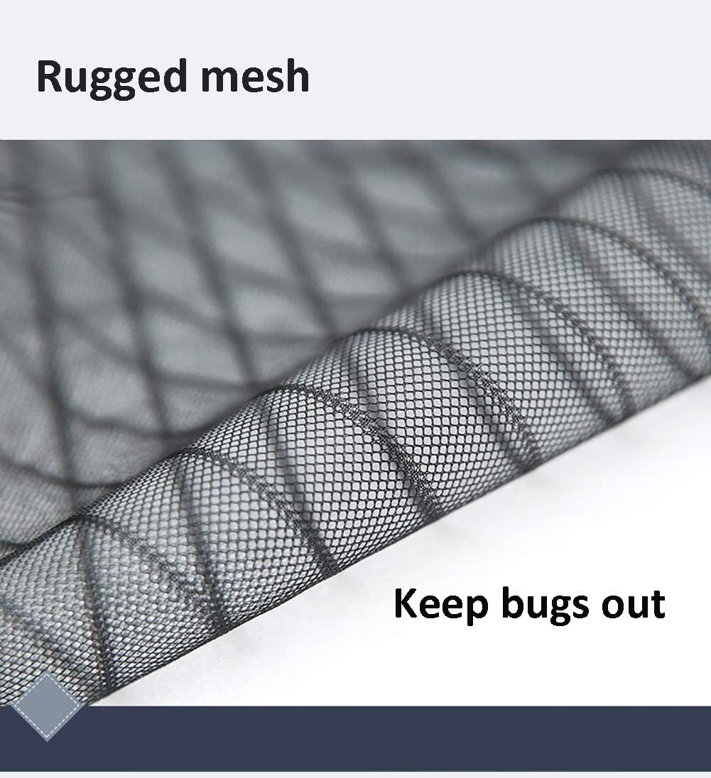 20x28inch Ruber Self Adhesive Magnetic Window Screen Mesh Black,Anti Mosquito Bug Insect Fly Window Net Curtain,Fiberglass Heavy Duty for Homes,with Sticky Tape,50x70cm