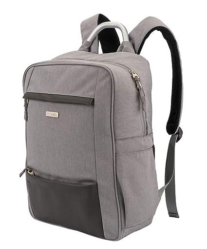 Mochila para laptop Eono Essentials, bolsa de trabajo para negocios, mochila delgada y liviana con cuero, antirrobo, se adapta a un portátil de 15.6 ...