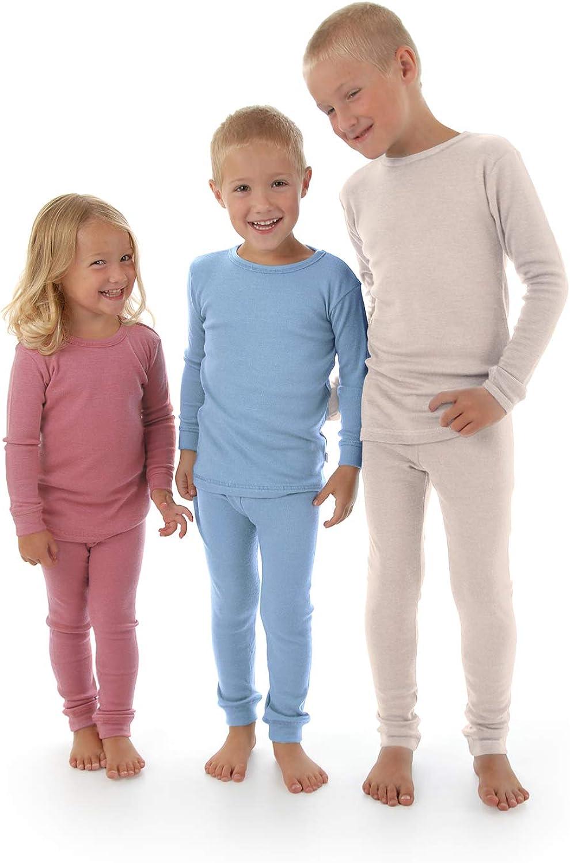 Thermal Underwear Base Layer PJ Unisex. Merino Wool Kids Pajama Set