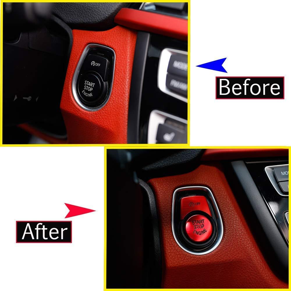Cubierta de ajuste del bot/ón del interruptor de parada de arranque del motor para 1 2 3 4 3 Serie GT F20 F30 F32 F34 Rojo