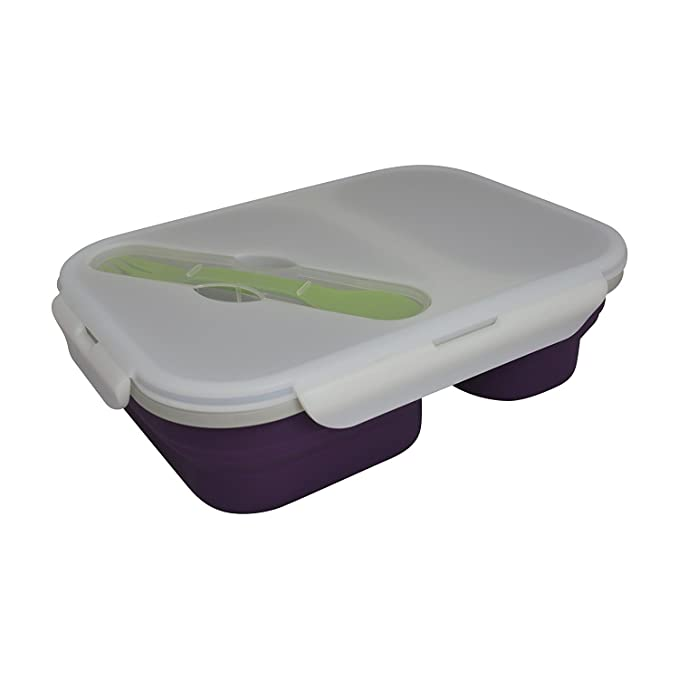 Amazon.com: ECO Vessel Caja almuerzo de silicona plegable y ...