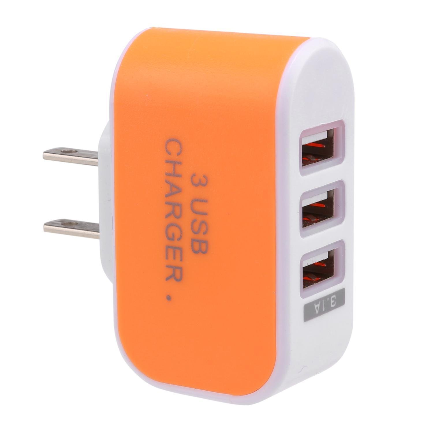 Tiowea New 3-Port USB Wall Home Travel AC Charger Adapter for Phone US Plug Wall Chargers by Tiowea (Image #3)