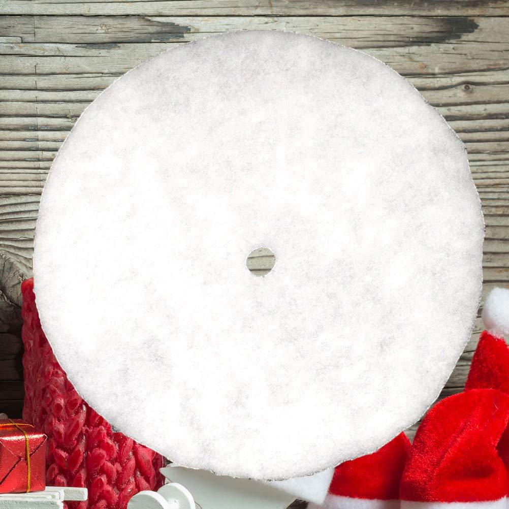 BESTOYARD Jupe de Sapin de No/ël Tapis Sapin de Noel en Coton Blanc Flocon de Neige Cache Couvre Pied de Sapin de Noel 70cm