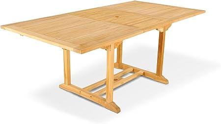 XXS ® caracas meuble de jardin en teck-table extensible en ...