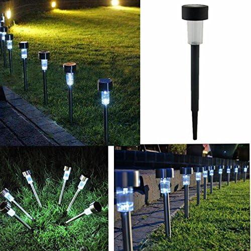 Liquidación! WATOPI - Luces solares para exteriores, estaca brillante LED alimentada por energía solar, luces de jardín inalámbricas para césped, patio, caminata, paisaje en el suelo: Amazon.es: Iluminación
