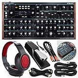 Novation Peak 8-Voice Desktop Polyphonic Synthesizer with Headphones & Assorted Cables Bundle
