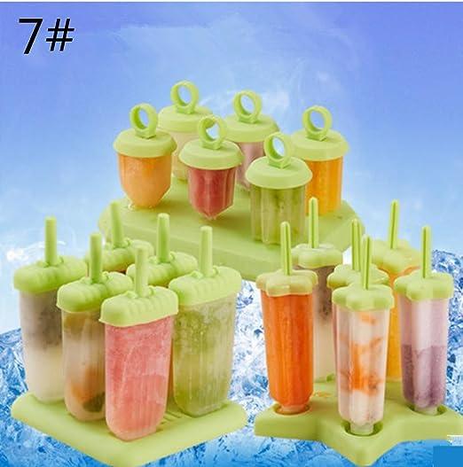 GYMNLJY Ideas de dibujos animados helados molde tóxico hielo polo ...