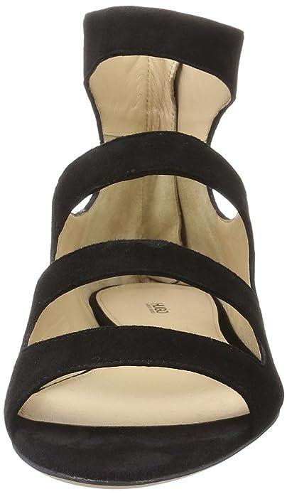 HUGO Damen Dalia 10195652 01 Offene Sandalen mit Keilabsatz, Schwarz (Black 1), 36 EU