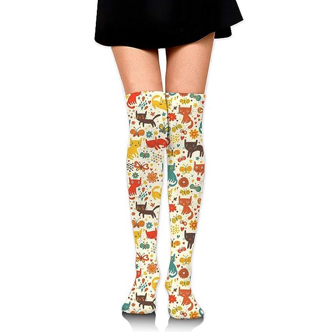 Cat In The Spring Women s Knee High Socks Fancy Design 80ab5c5c1b8f3