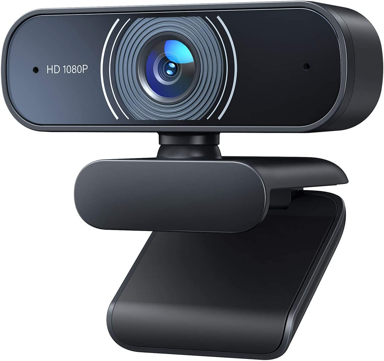 RALENO 1080P Webcam, Dual Built-in Microphones, Full HD Video Camera for Computers PC Laptop Desktop, USB Plug and Play, Conference Video Calling, Streaming: Electronics