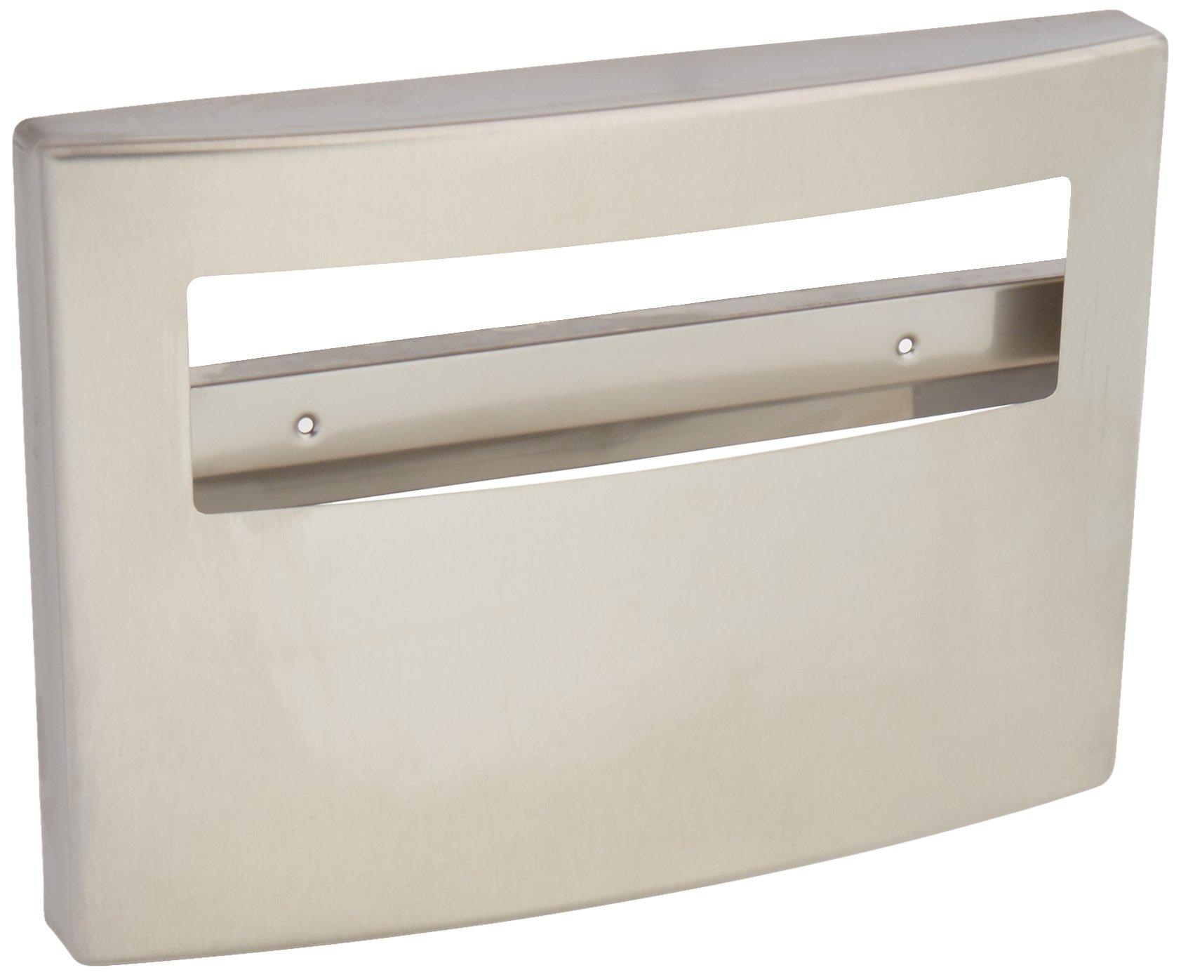 Bobrick 4221 Toilet Seat Cover Dispenser, 15 3/4 x 2 1/4 x 11 1/4, Satin Stainless Steel