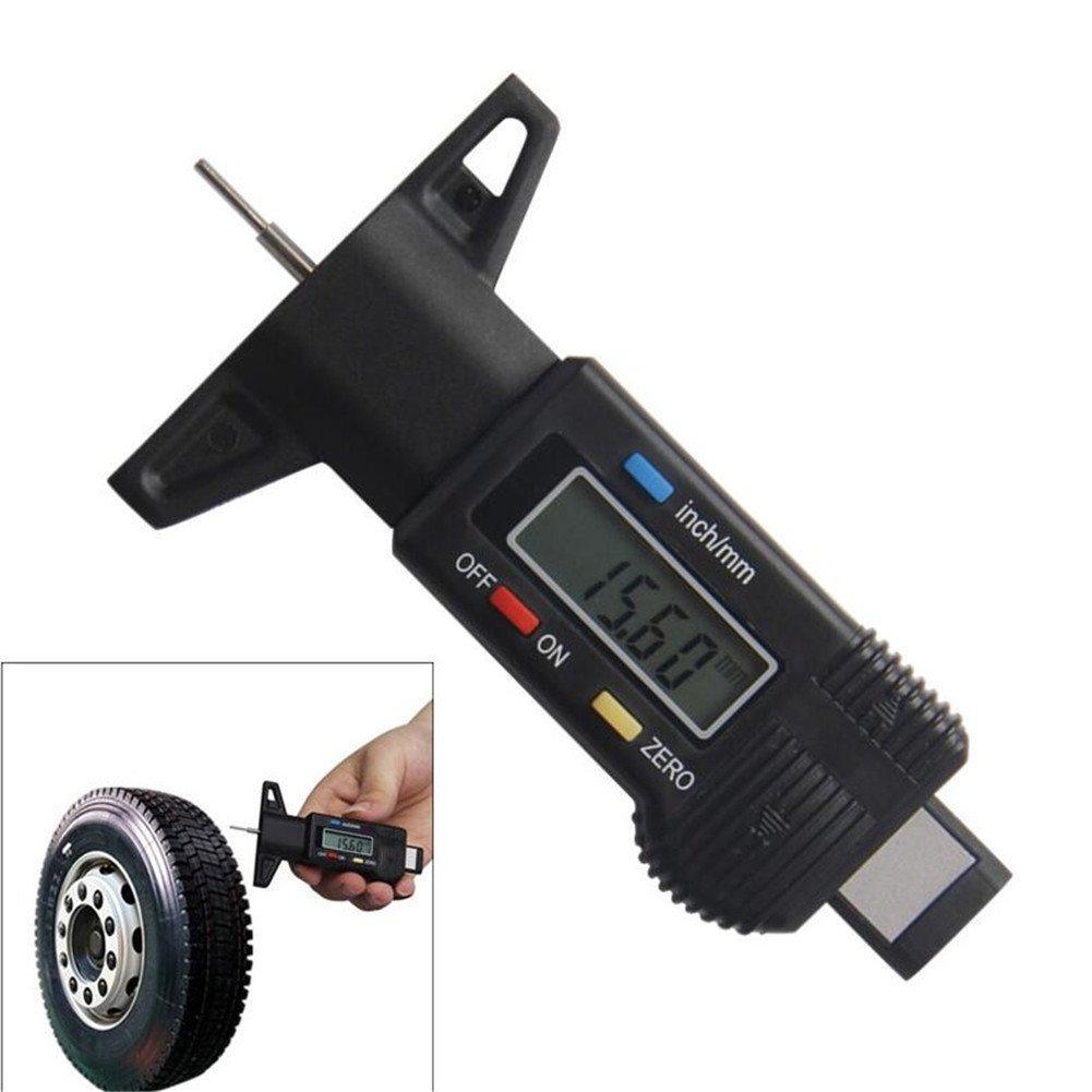 Digital Tiefenmesser 0– 25 mm/0, 01 Profiltiefenmesser LCD Display Reifenprofil Edelstahlfü hler Bremse schwarz 0– 2, 5 cm Messschieber Mikrometer VALINK SHOMVAI404