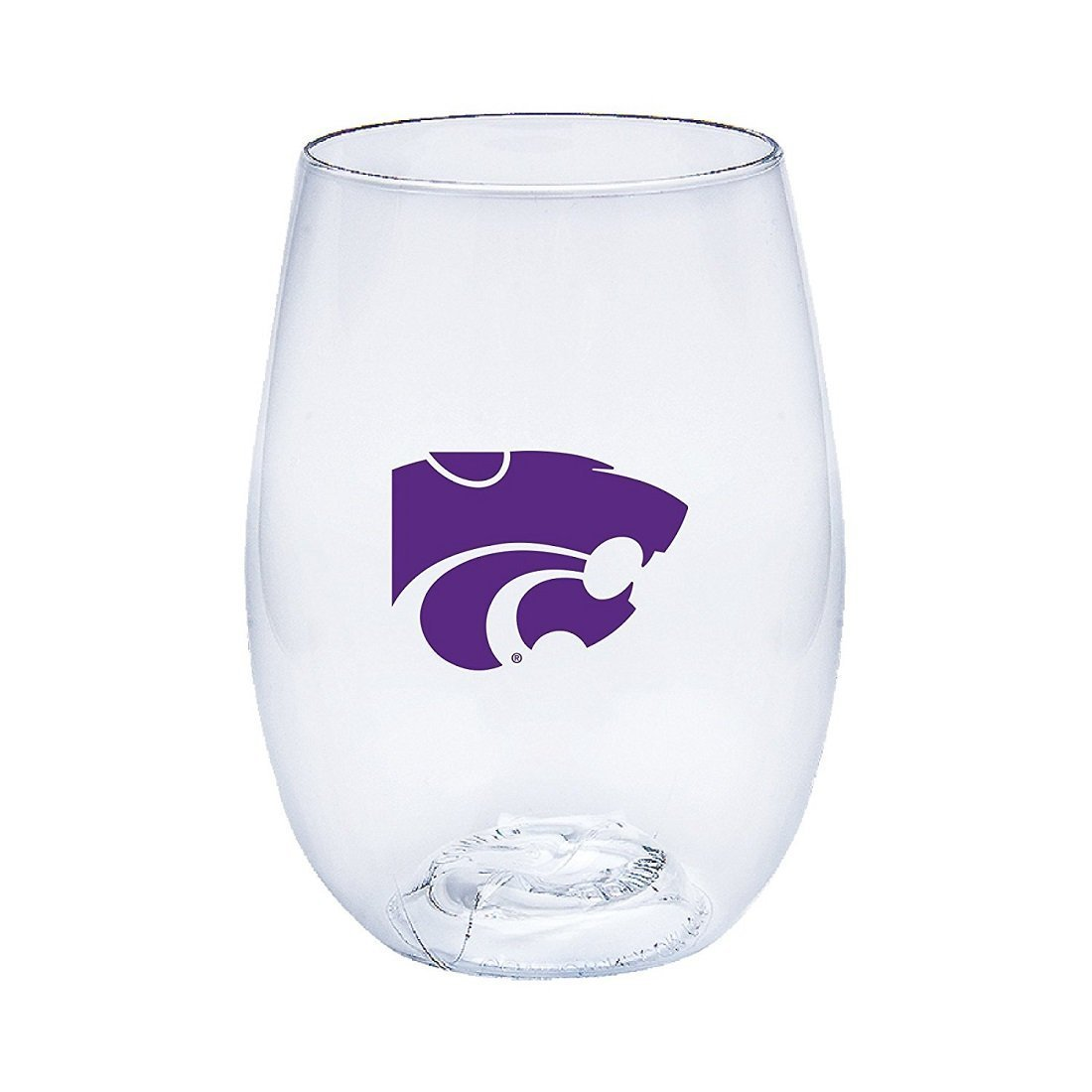 Kansas State Wildcats Govino Shatterproof Wine or Beverage Glasses - Boxed set of 4