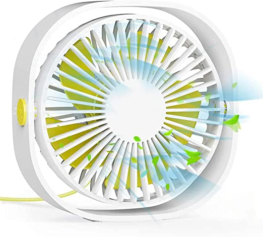 USB Small Fan Personal Quiet USB Desk Fan Mini Silent Adjustable Fan with 5-Speed for Home Office Outdoor Convenient Mini Color : White, Size : One Size