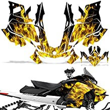 Ski-Doo Renegade 850 Summit G4 2017 Decal Graphic Kit Sled Snowmobile Sticker FLAMES YELLOW