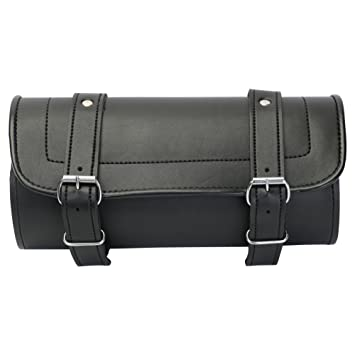 Motorcycle Tool Bag >> New Leather Plain Motorcycle Tool Bag Roll Saddle Luggage