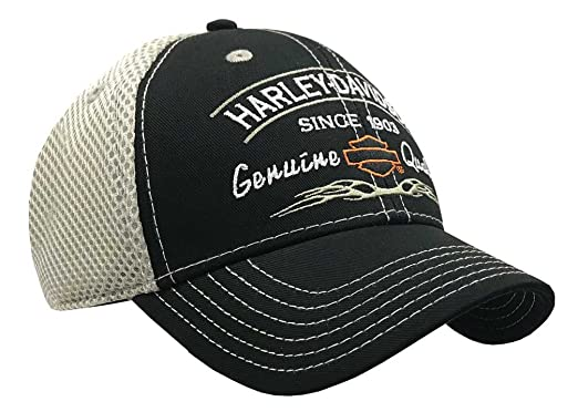 b516460d69a11 Amazon.com  Harley-Davidson Genuine Harley Logo Mesh Back Black ...