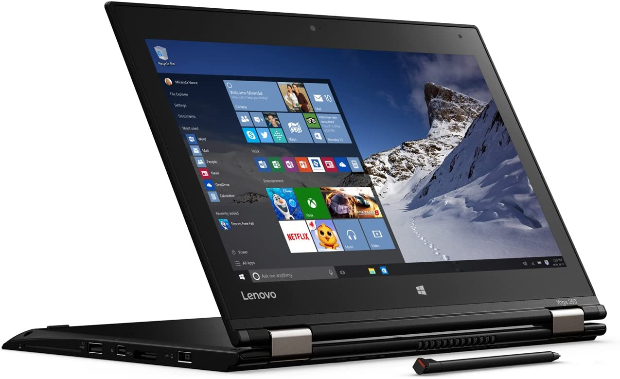 "Lenovo Thinkpad Yoga 260 Business 2-in-1 Laptop - 12.5"" HD IPS Touchscreen - Intel core i3-6100U 2.3GHz Processor - 8GB DDR4 RAM - 256GB SSD- Fingerprint Reader - Windows 10 Home"