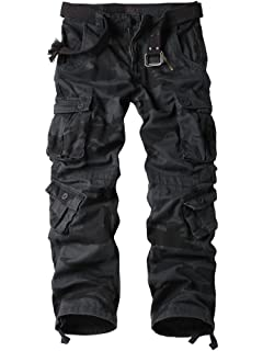 AKARMY Must Way Men s Cotton Casual Military Army Cargo Camo Combat Work  Pants with 8 Pocket 39b3d63c784