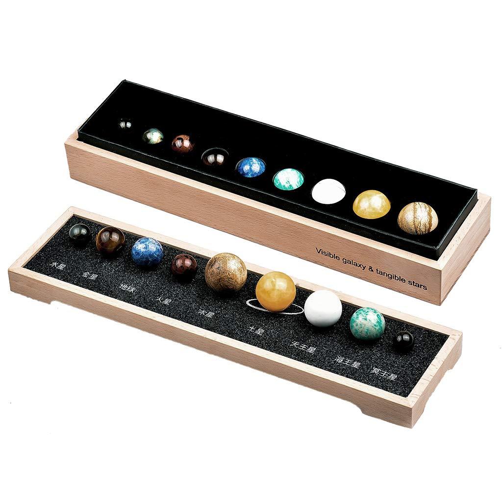 Fenteer Sonnensystem Planetensystem mit 8 Planeten Stein, Dekoration fü r Ihr Schlafzimmer Wohnzimmer und Bü ro