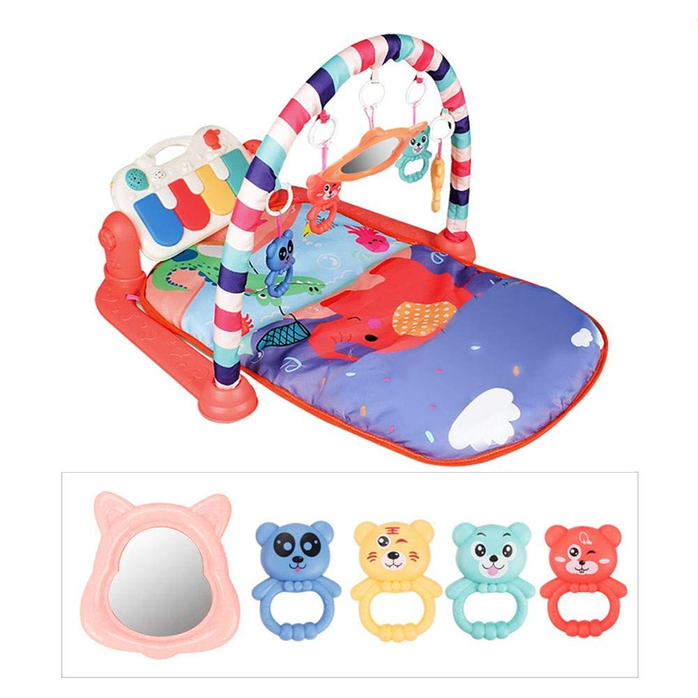 Baby Activity Play Gym New-Born Baby Play Mat with Activity Centre Kick and Play Newborn Toy with Piano for Baby 3-in-1 Musical Activity Gym Sit and Play Lay for Boy and Girl Newborn Gift