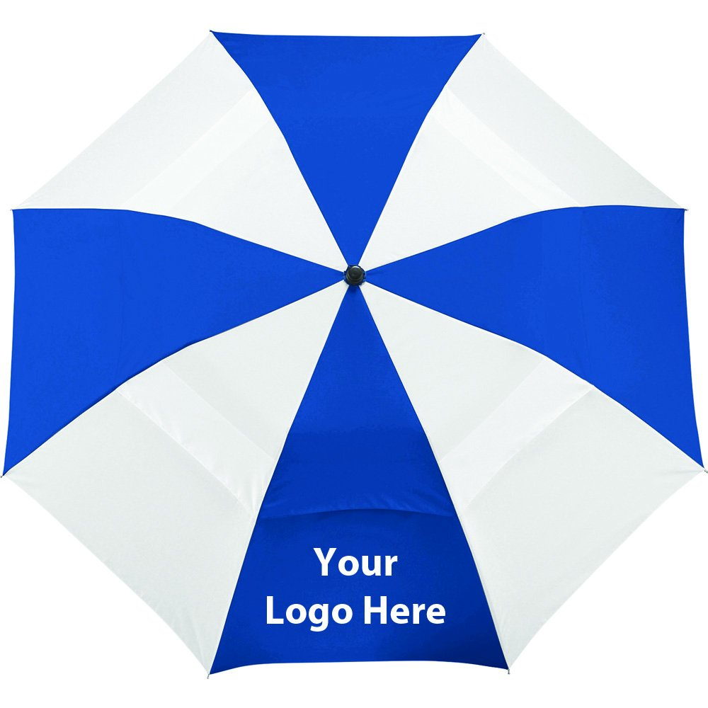 42'' Vented Auto Open Windproof Slim Stick Umbrella - 36 Quantity - $11.25 Each - PROMOTIONAL PRODUCT / BULK / BRANDED with YOUR LOGO / CUSTOMIZED by Sunrise Identity