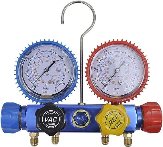 Vidaxl Monteurhilfe 4 Wege Mit 4 Schläuchen Klimaanlage R134 R410a R22 R407c Amazon De