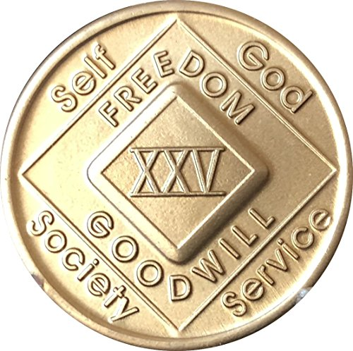 25 Year NA Medallion Official Narcotics Anonymous Chip XXV