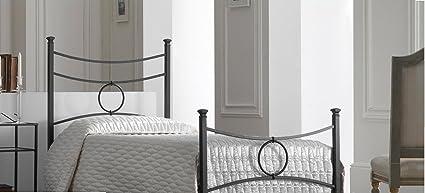 Bed Store LETTO SINGOLO IN FERRO BATTUTO MODELLO CONCA COLORE NERO ...