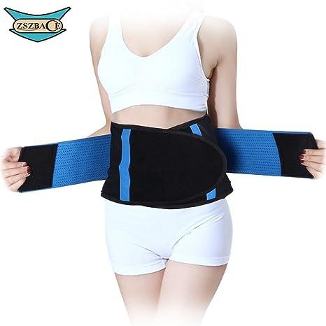 ZSZBACE cintura trimmer cinturón respaldo apoyo corsé pérdida de peso para hombres y mujeres-cinco