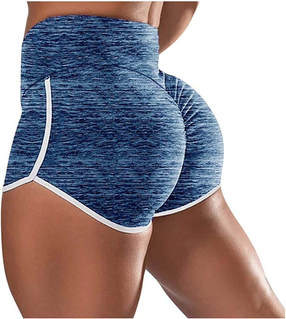 HOTAPEI Womens High Waisted Scrunch Butt Lifting Shorts Side Drawstring Workout Running Sports Athletic/Shorts