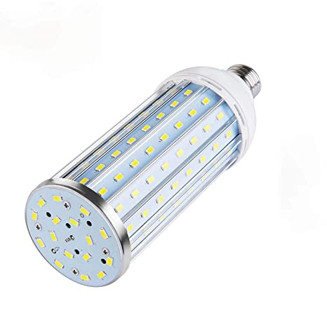 TINS Bombillas LED, 40W E26 Base 6500K 4000LM 128X5730SMD, Metal LED Bombilla de maíz