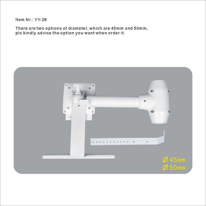 LCD Monitor Bracket Connect to Dental Unit Free-adjustable Inside Diameter 45mm or 50mm Dencare YY-28