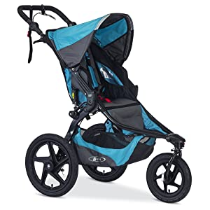 BOB Revolution PRO Jogging Stroller - Up to 75 Pounds - UPF 50+ Canopy - Easy Fold - Adjustable Handlebar with Hand Brake , Lagoon