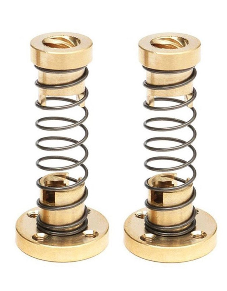 Zomiee 2pcs T8 Anti Backlash Spring Loaded Nut Elimination Gap Nut for 8mm Acme Threaded Rod Lead Screws DIY CNC 3D Printer Parts