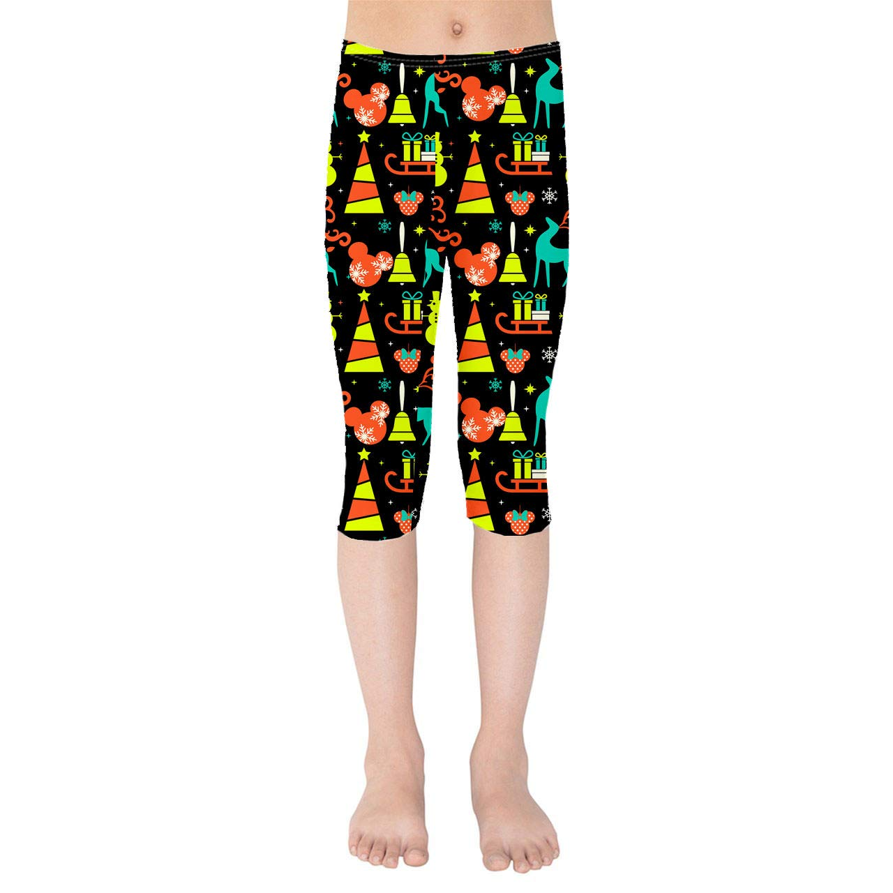 Disney Black Christmas Kids Capri Leggings