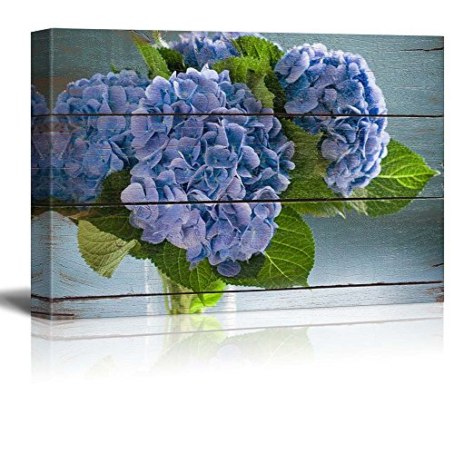 Purple blossoms on green leaves Rustic Floral Arrangements Pastels Colorful Beautiful Wood Grain Antique