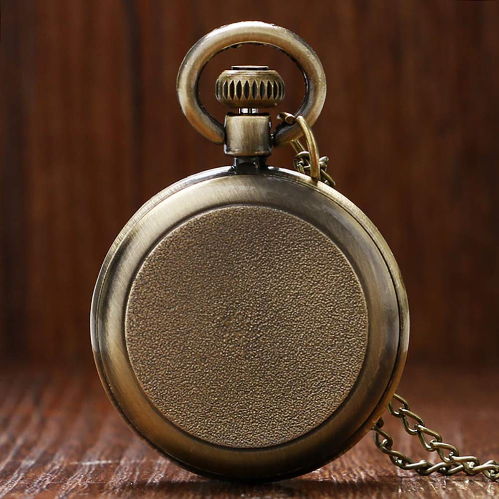 Amazon.com: Pocket Watch, Antique Bronze Roman Numerals Dial Pocket Watch, Gifts for Men - Ahmedy Pocket Watch: Watches