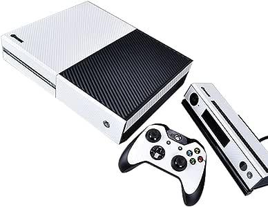 Pandaren® completos placas frontales Pegatinas de la piel para la consola Xbox One x 1 y el mando x 2 y kinect x 1(Las partículas de carbono blanco): Amazon.es: Videojuegos