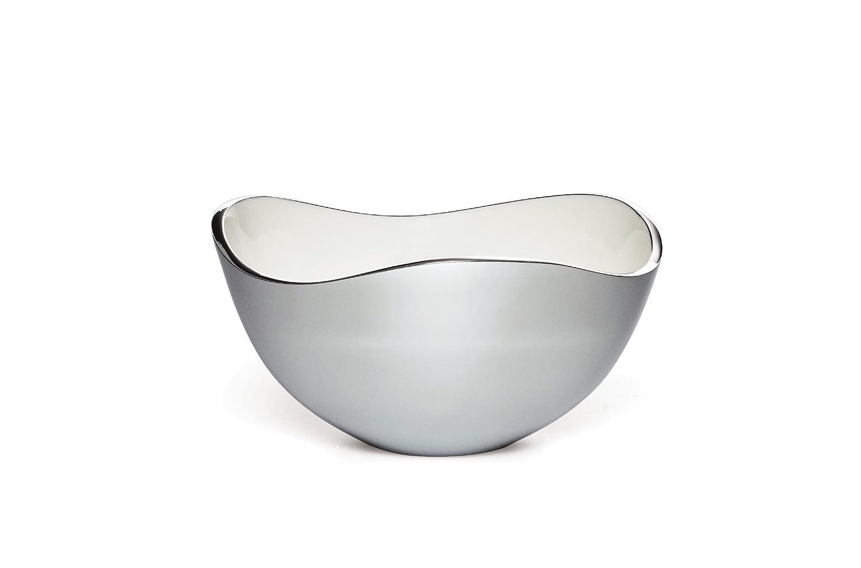 Savora Dimple Aluminum and Enamel Bowl, 9-Inch, Snow 5184681