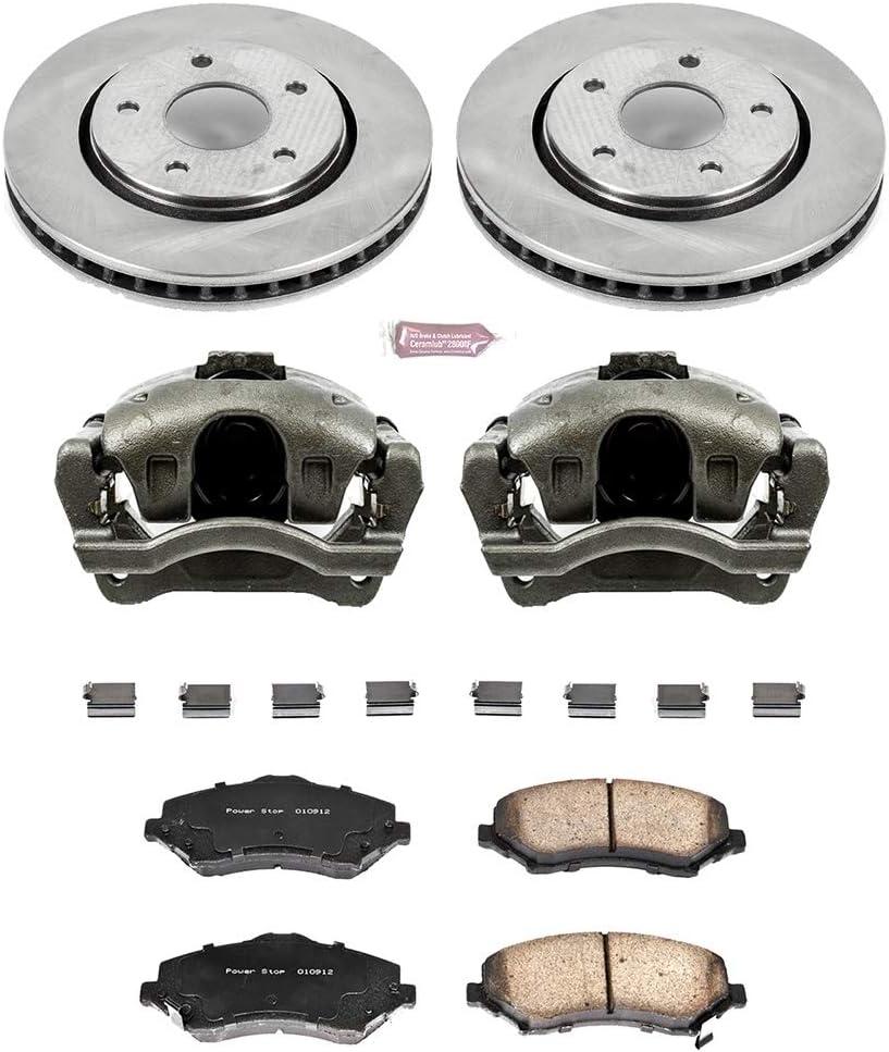 front Power Stop CRK3118 Coated Brake Rotor /& Ceramic Brake Pads