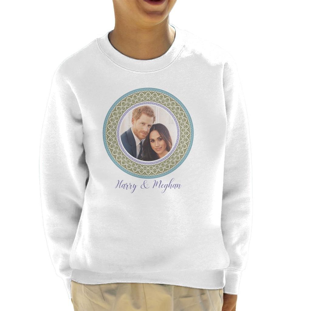 Coto7 Green Harry and Meghan Royal Wedding Decorative Plate Kid's Sweatshirt