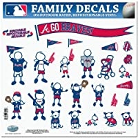 MLB Atlanta Braves Large Family Decal Set