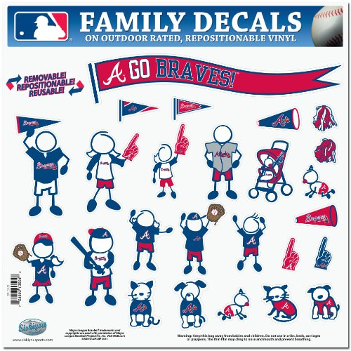 Atlanta Braves Car (MLB Atlanta Braves Large Family Decal Set)