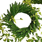 JAROWN Artificial Pine Green Leaves Needle Garland for Christmas Embellishing and Home GardenDecor